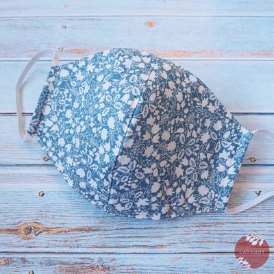 Hawaiian Face Mask • Light Blue Garden - Light Blue - Face Mask