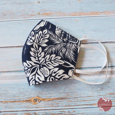 Hawaiian Face Mask • Navy Island - Navy - Face Mask