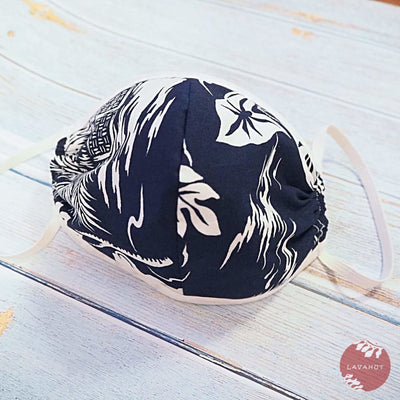 Hawaiian Face Mask • Navy Island + Trim - Navy - Face Mask