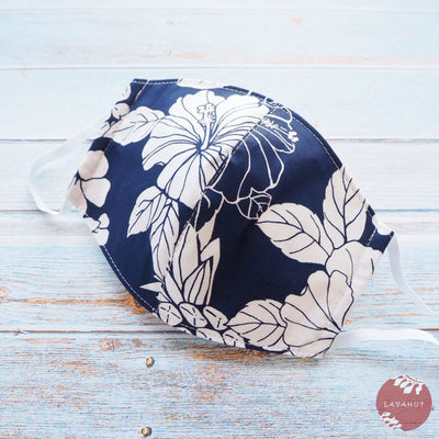 Hawaiian Face Mask • Navy Koloa - Navy Blue - Face Mask