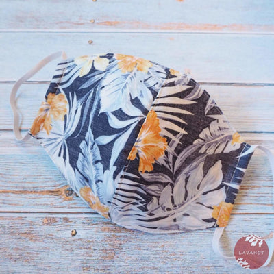 Hawaiian Face Mask • Navy Maui - Navy - Face Mask