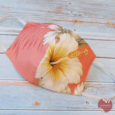 Hawaiian Face Mask • Pink Hibiscus Joy - Pink - Face Mask