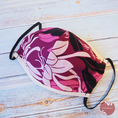 Hawaiian Face Mask • Purple Punahou + Trim - Purple - Face Mask