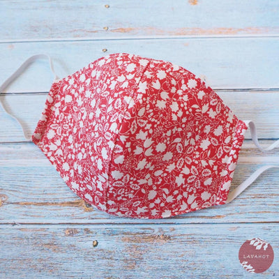 Hawaiian Face Mask • Red Garden - Red - Face Mask