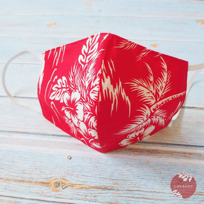 Hawaiian Face Mask • Red Island - Red - Face Mask