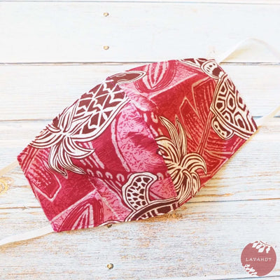 Hawaiian Face Mask • Red Kaena - Red - Face Mask