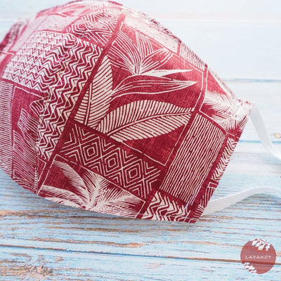 Hawaiian Face Mask • Red Kakaako - Red - Face Mask