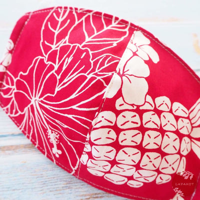 Hawaiian Face Mask • Red Koloa - Red - Face Mask
