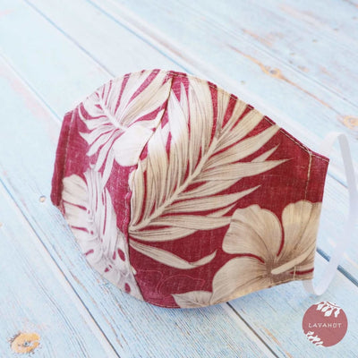 Hawaiian Face Mask • Red Olomana - Red - Face Mask