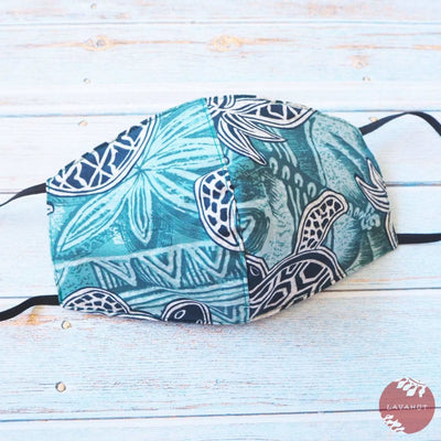 Hawaiian Face Mask • Teal Kaena - Teal - Face Mask