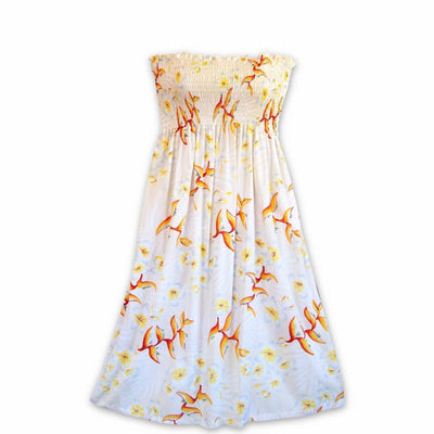 Heliconia Bliss Cream Moonkiss Hawaiian Dress - One Size / Cream - Womens Dress