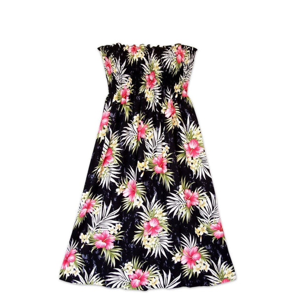 Hibiscus Isles Black Moonkiss Hawaiian Dress - Womens Dress