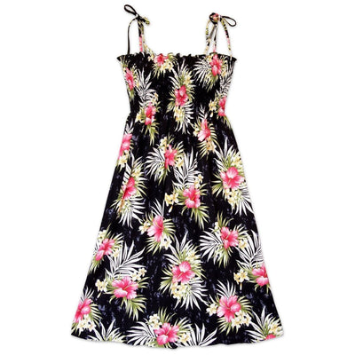 Hibiscus Isles Black Moonkiss Hawaiian Dress - One Size / Black - Women's Dress