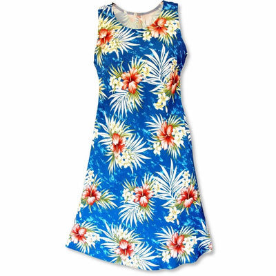 Hibiscus Isles Blue Rhythm Hawaiian Dress - Women's Dress