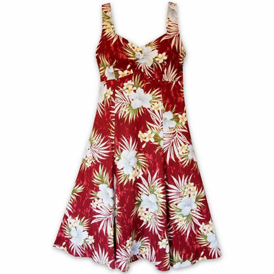 Hibiscus Isles Red Molokini Hawaiian Dress - s / Red - Women's Dress