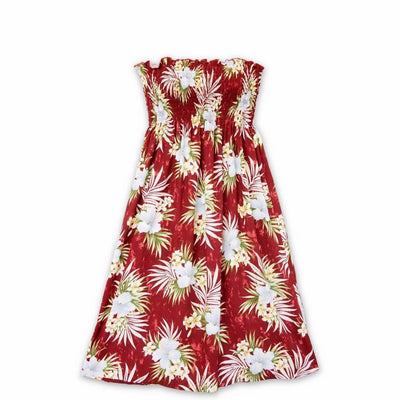 Hibiscus Isles Red Moonkiss Hawaiian Dress - One Size / Red - Women's Dress