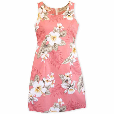 Hibiscus Joy Pink Short Hawaiian Tank Dress - Women's Dress