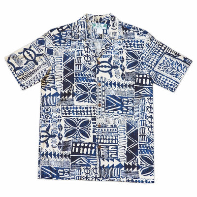 Hieroglyphics Cream Hawaiian Rayon Shirt - s / Cream - Men's Shirts