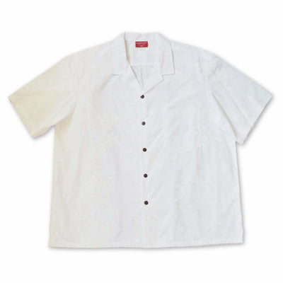 Hilo White Hawaiian Cotton Shirt - Mens Shirts