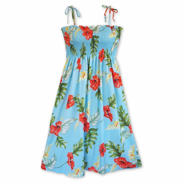 Honeymoon Blue Moonkiss Hawaiian Dress - Womens Dress