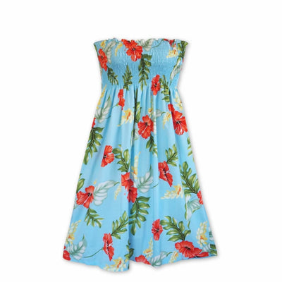 Honeymoon Blue Moonkiss Hawaiian Dress - One Size / Blue - Women's Dress