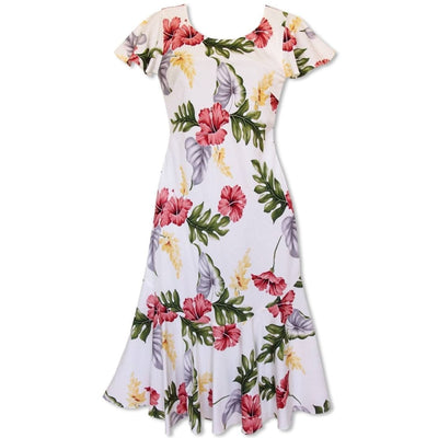 Honeymoon Cream Malia Hawaiian Dress - Women's Dress