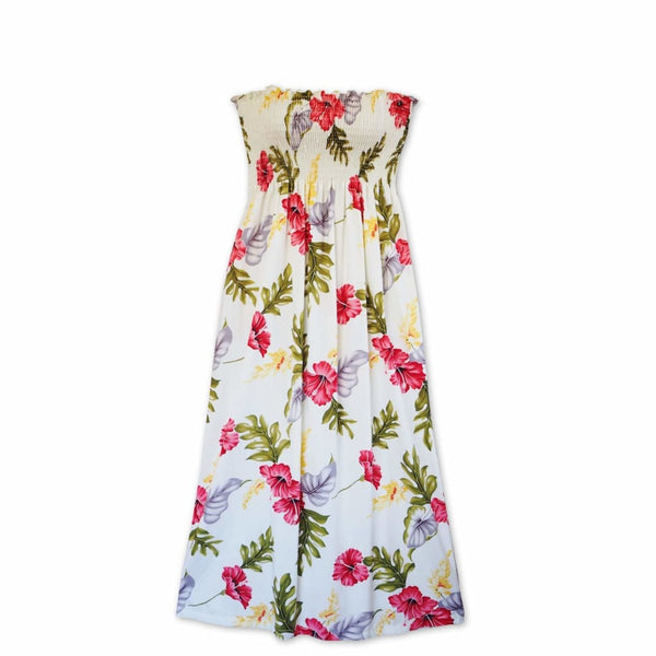 Honeymoon Cream Maxi Hawaiian Dress - Womens Dress