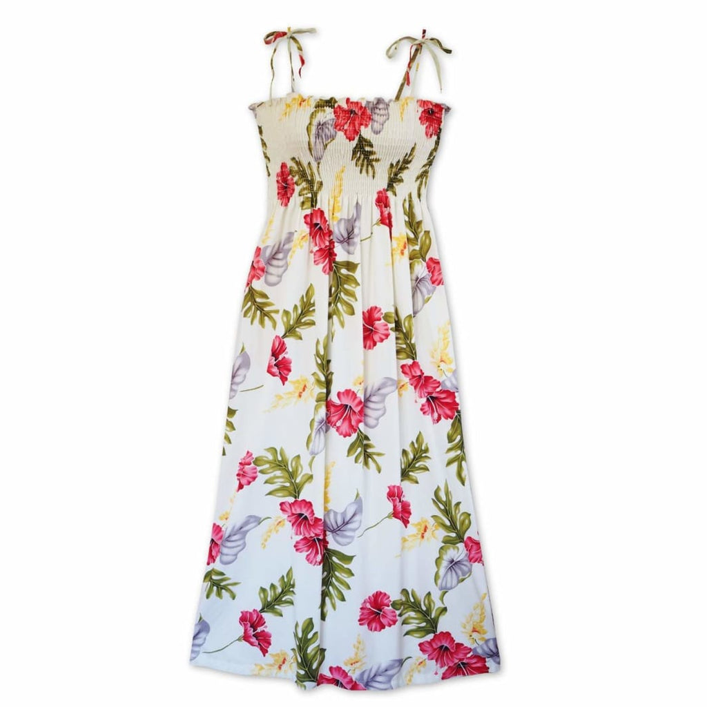 Honeymoon Cream Maxi Hawaiian Dress - One Size / Cream - Womens Dress