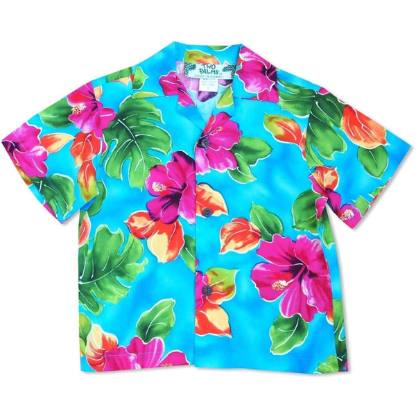 Hoopla Blue Hawaiian Boy Shirt - Boys Hawaiian Shirts