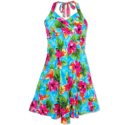 Hoopla Blue Napali Hawaiian Dress - s / Blue - Women's Dress