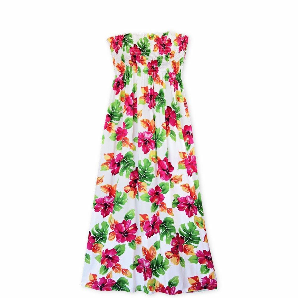 Hoopla White Maxi Hawaiian Dress - One Size / White - Womens Dress