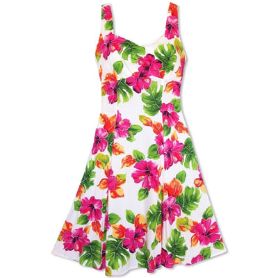 Hoopla White Molokini Hawaiian Dress - s / White - Women's Dress