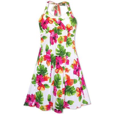 Hoopla White Napali Hawaiian Dress - S / White - Womens Dress