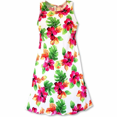 Hoopla White Rhythm Hawaiian Dress - Women's Dress