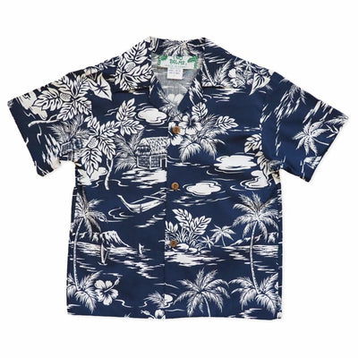 Island Blue Hawaiian Boy Shirt - 2 / Blue - Boy's Hawaiian Shirts