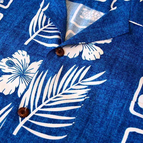 Island Jam Blue Hawaiian Rayon Shirt - Mens Shirts