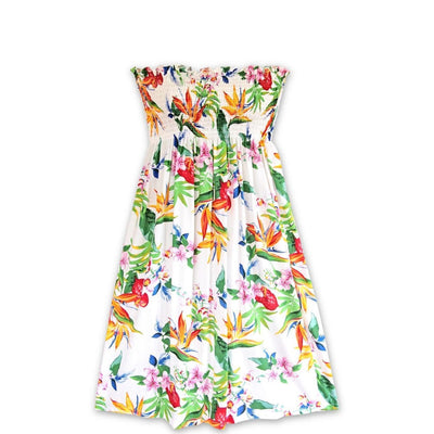 Jungle White Moonkiss Hawaiian Dress - One Size / White - Women's Dress