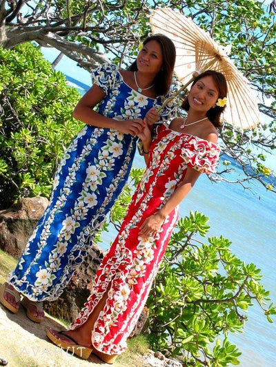 Kaimuki Red Lani Hawaiian Dress - Womens Dress