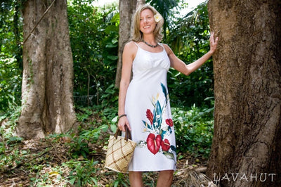 Kamehameha White Kamalii Hawaiian Dress - Women's Dress