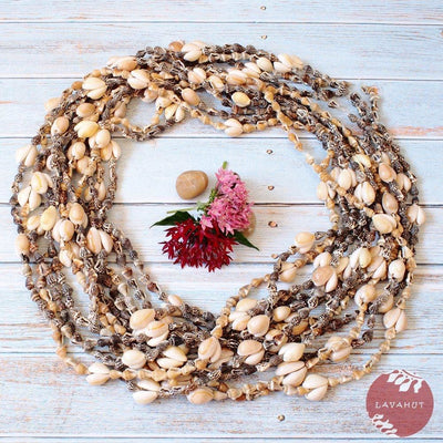 Kaneohe Nasa Seashells Hawaiian Lei Bundle - Brown - Lei