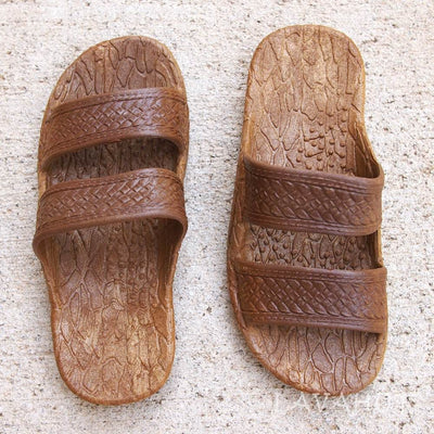 Kids Brown Jandals® - Pali Hawaii Sandals - Hawaiian Sandals