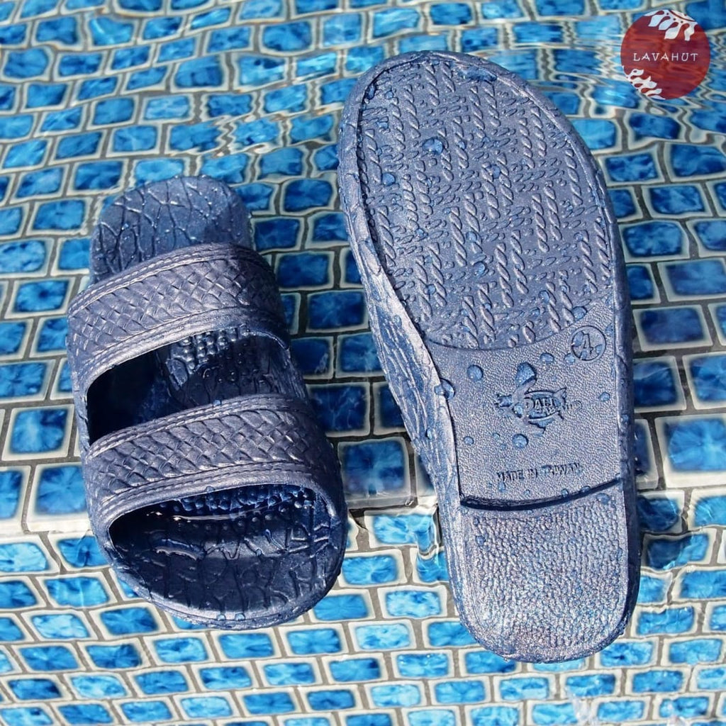 Kids Navy Blue Jandals® - Pali Hawaii Sandals - Hawaiian Sandals