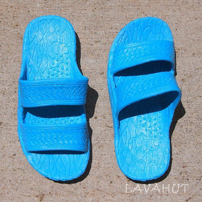 Kids Sky Blue Jandals® - Pali Hawaii Sandals - Hawaiian Sandals