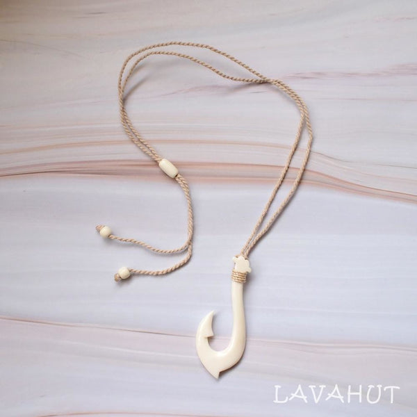 Koolina Fish Hook Hawaiian Necklace - Necklaces