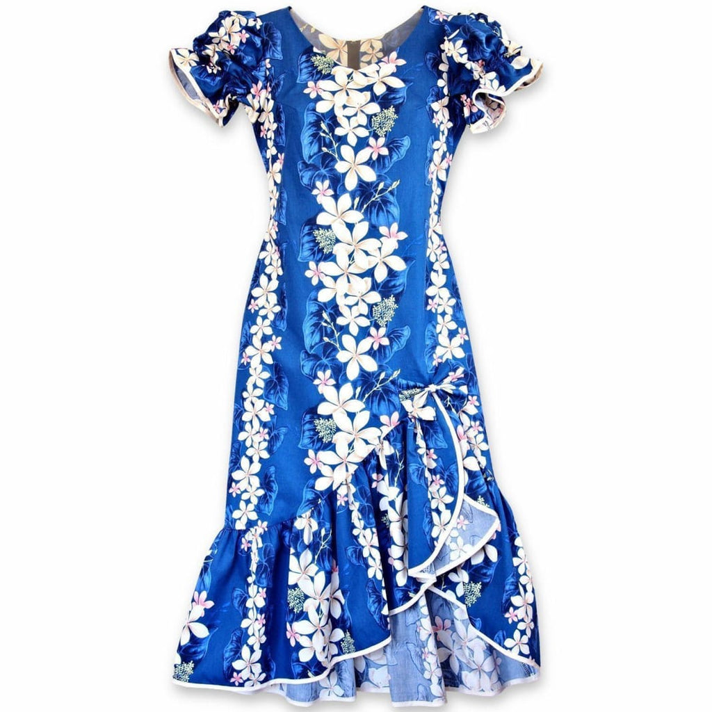 Kuulei Blue Makani Hawaiian Muumuu Dress - Womens Dress