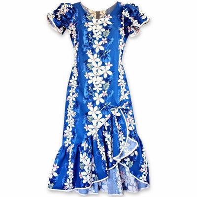 Kuulei Blue Makani Hawaiian Muumuu Dress - Women's Dress