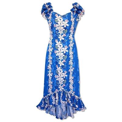 Kuulei Blue Niihau Hawaiian Muumuu Dress - Women's Dress