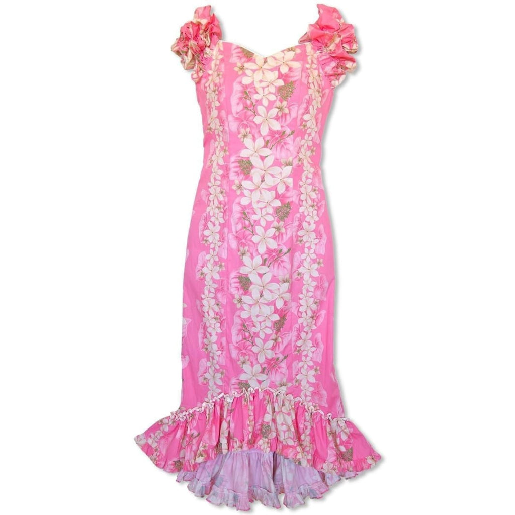 Kuulei Pink Niihau Hawaiian Muumuu Dress - Womens Dress