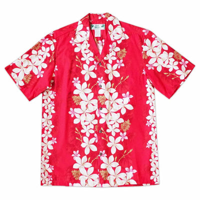 Kuulei Red Hawaiian Cotton Shirt - s / Red - Men's Shirts