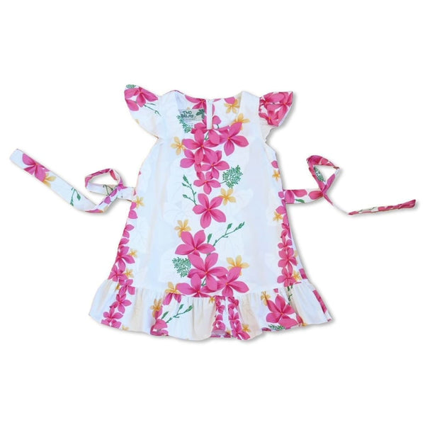 Kuulei White Hawaiian Girl Cotton Dress - Girls Hawaiian Dresses